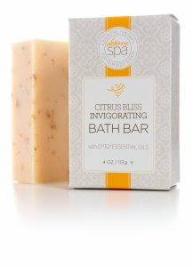 doTERRA Spa Citrus Bliss Invigorating Bath Bar provides an invigorating cleansing experience with the uplifting blend of Citrus Bliss CPTG Certified Pure Therapeutic Grade® essential oils. This moisturizing bar contains exfoliating milled oats and natural emollients from shea butter and coconut, sunflower, and safflower oils, leaving skin soft and smooth. It is free from harsh, artificial fragrances and colors and other ingredients that can be irritating to the skin. Start each day with the aromatic and cleansing benefits of Citrus Bliss Invigorating Bath Bar.